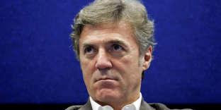 Flavio Cattaneo, à Rome le 18 novembre 2016. Un différend oppose le PDG de Telecom Italia à Vivendi.