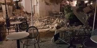 Bâtiments endommagés par le séisme, sur l'île de Kos (Grèce), le 21 juillet.