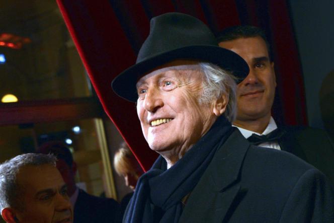L'acteur Claude Rich lors de la 38e cérémonie des Césars, le 22 février 2013, au théâtre du Châtelet à Paris.