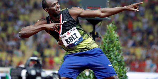 Athletics - IAAF Diamond League Herculis meeting - 100m Men - Louis II Stadium, Monaco - July 21, 2017. Jamaican sprinter Usain Bolt reacts.     REUTERS/Eric Gaillard
