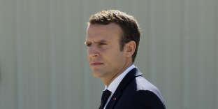Emmanuel Macron, en visite sur la base aérienne d'Istres, le 20 juillet.