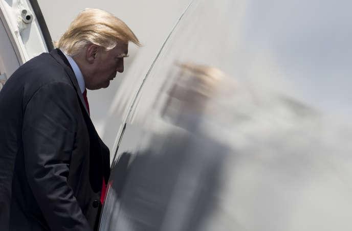 Donald Trump, le 22 juillet à Norfolk, en Virginie.