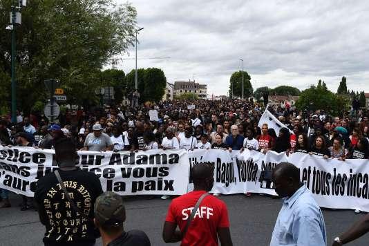 Manifestation en mémoire d'Adama Traoré.