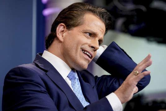 Anthony Scaramucci, nouveau directeur de la communication de la Maison Blanche, s'adresse aux médias, le 21 juillet.
