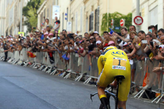 Chris Froome a conforté son maillot jaune lors du contre-la-montre de Marseille lors de la 20e étape du Tour de France, le 22 juillet 2017.