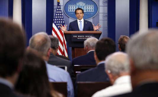 Anthony Scaramucci, nommé directeur de la communication de la Maison Blanche, s'addrese à la presse, le 21 juillet.