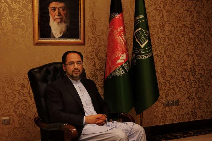 Le ministre des affaires étrangères afghan, Salahuddin Rabbani.