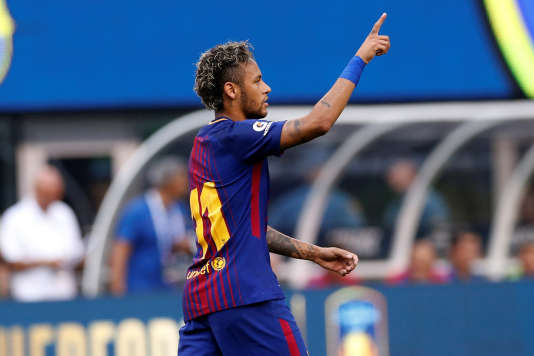 Neymar, après la victoire du FC Barcelone contre la Juventus Turin, le 22 juillet.