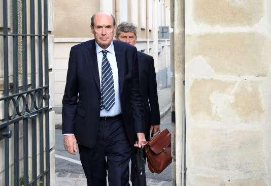 Candidat à la reprise de GM&S, Alain Martineau arrive pour une audience au tribunal de commerce de Poitiers, le 19 juillet.