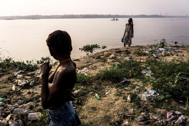 Au bord du fleuve Congo, côté kinois, en juillet 2017. En face, Brazzaville.