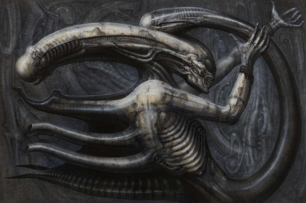 Les créatures de H.R. Giger sont «biomécaniques» : un genre singulier et inédit qui relie une forme naturelle à une autre forme issue de la technologie et de ses artifices.