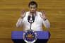 Le président philippin Rodrigo Duterte lors de son second discours sur l'état de la nation, à Quezon City, ancienne capitale et ville la plus peuplée des Philippines, le 24 juillet 2017.