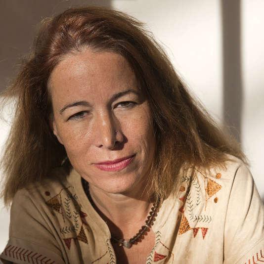 Portrait d'Anne Dufourmantelle, psychanalyste et philosophe française, le 8 novembre 2015.