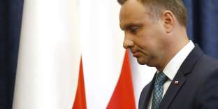 Le président polonais Andrzej Duda, le 24 juillet à Varsovie.