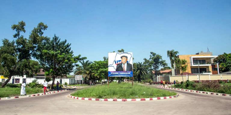 Dans la commune de Limete, en avril 2017, près du siège du parti d'opposition UDPS.
