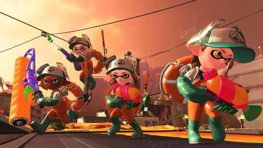 Dans «Splatoon2», des équipes de quatre poulpes anthropomorphes s'affrontent à coups de peinture.