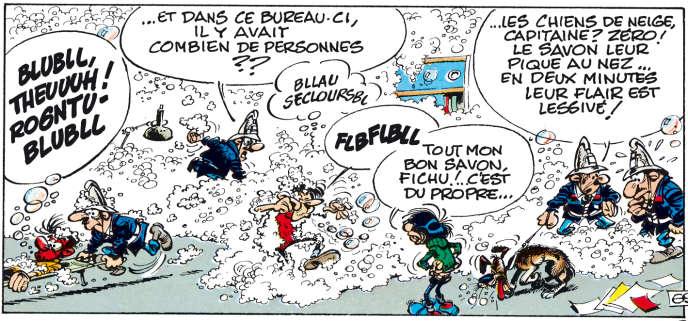 Vignette tirée de l'album de Franquin, « Le Géant de la gaffe » (Dupuis, 1972).