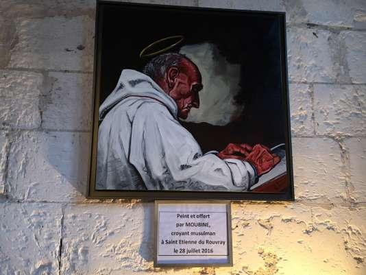 Le tableau représentant Jacques Hamel offert par un« croyant musulman».