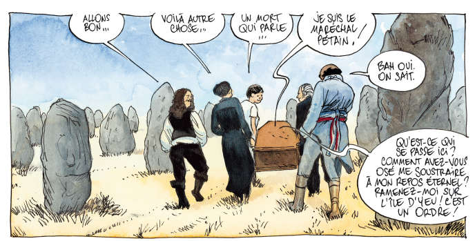 Dessin extrait de « La Balade nationale », d'Etienne Davodeau et Sylvain Venayre, qui paraîtra le 12 octobre.