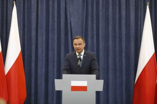 Andrzej Duda, à Varsovie, le 24 juillet.