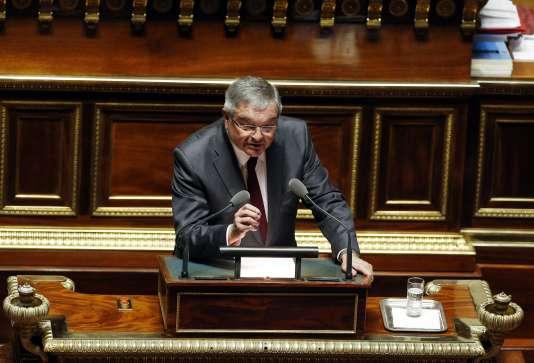 Michel Mercier à la tribune du Sénat en 2016.