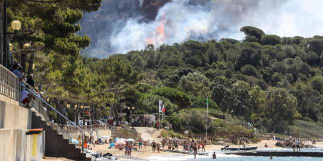 A La Croix-Valmer, près de Saint-Tropez, le 25 juillet.