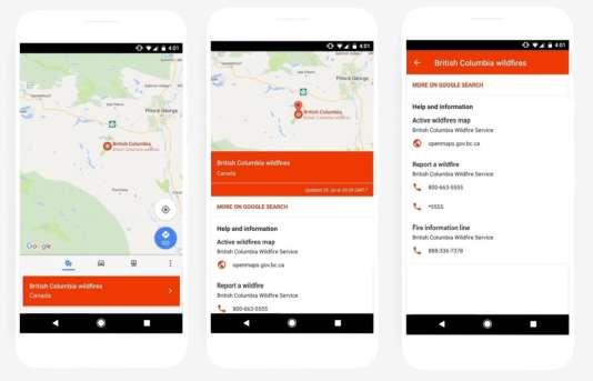 Google Maps affichera aussi, sur mobile, des informations en cas de crise.