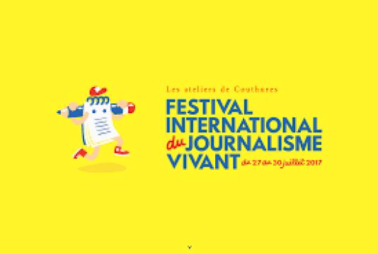 Affiche du Festival international du journalisme vivant, de Couthures, édition 2017.