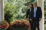 Le président Donald Trump et le premier ministre libanais, Saad Hari, à la Maison Blanche, le 25 juillet.
