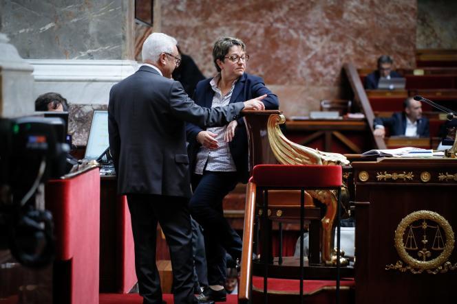 Carole Bureau-Bonnard (LRM), présidente de séance le 25 juillet, a été la cible de la bronca d'une partie des députés.