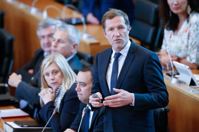 Paul Magnette au Parlement de Wallonie, à Namur, le 2 mai.
