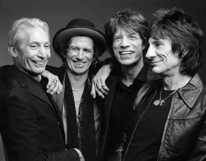 Charlie Watts, Keith Richards, Mick Jagger et Ronnie Wood.