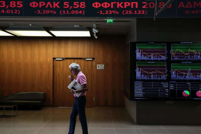 A la Bourse d'Athènes (Grèce), le 25 juillet.