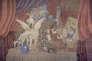 Rideau de scène pour «Parade», ballet réaliste sur un thème de Jean Cocteau, décors et costumes de Picasso.