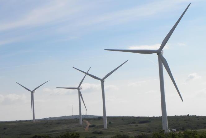 Le parc éolien d'Aumelas (Hérault).