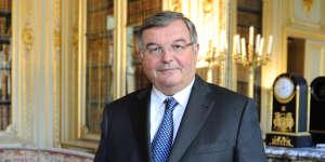 Michel Mercier alors ministre de la justice, à Paris, en septembre 2011.