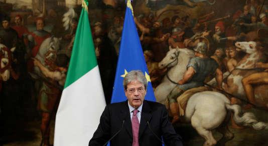 Le premier ministre italien, Paolo Gentiloni, à Rome, le 27 juillet.