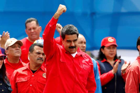 Le président Nicolas Maduro lors d'un meeting àCaracas le 27 juillet.