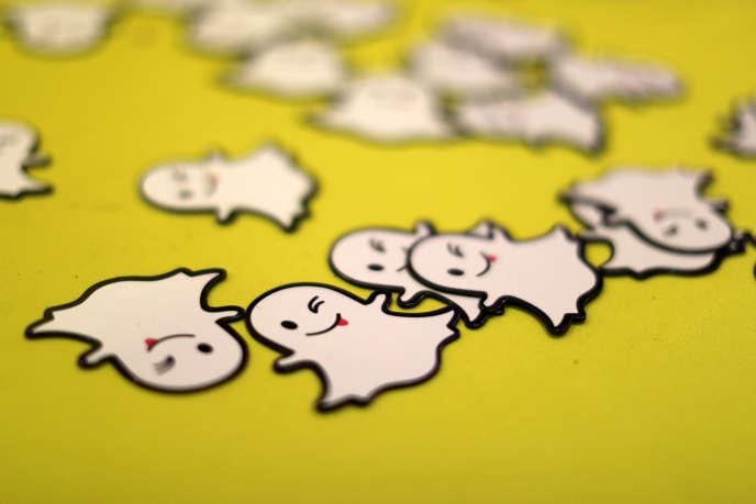 Le logo, en forme de petit fantôme, de Snapchat.