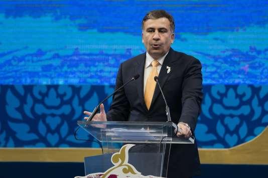 Mikheïl Saakachvili à Chiang Mai, en Thaïlande, en mai 2013.