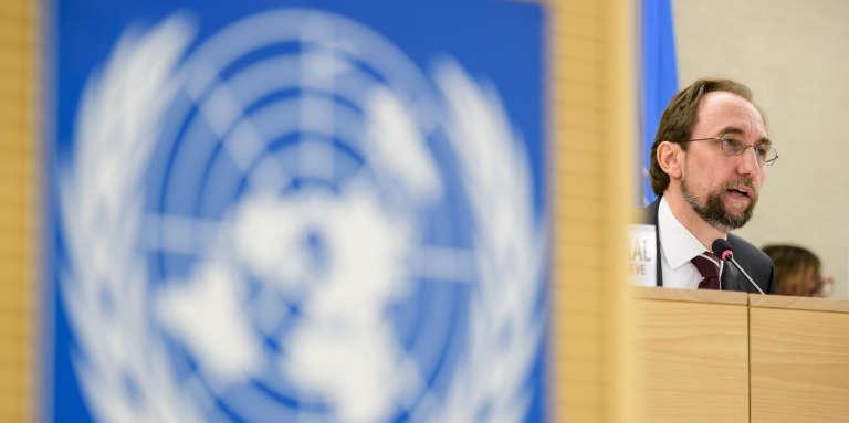 Le haut-commissaire aux droits de l'homme de l'ONU, Zeid Ra'ad Zeid Al-Hussein, à Genève, le 6juin 2017.
