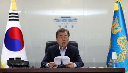 Le président sud-coréen Moon Jae-in, à Séoul, le 4 juillet.