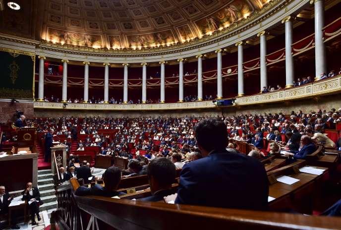 Richard Ferrand, président du groupe LRM,s'exprime devant l'Assemblée nationale, le 4 juillet.