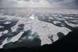Fonte des glaces arctiques dans le détroit de Franklin, le long du passage du nord-ouest, dans l'archipel arctique canadien, le 22 juillet.
