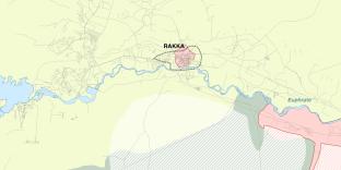 La situation à Rakka (Syrie), le 26 juillet 2017.