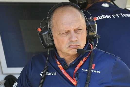 Frédéric Vasseur, nouveau patron de Sauber F1, le 28 juillet en Hongrie.