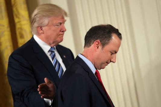 Donald Trump et Reince Priebus, le 22janvier à la Maison Blanche.