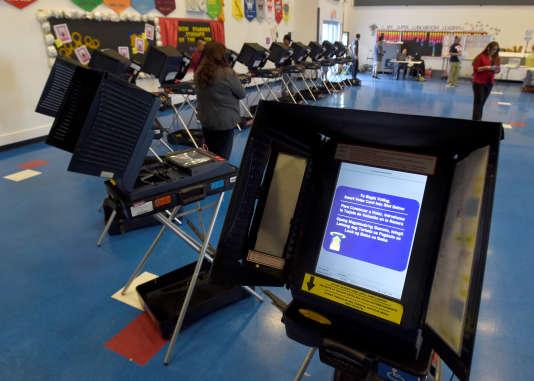 Une machine à voter à Las Vegas, en 2016.