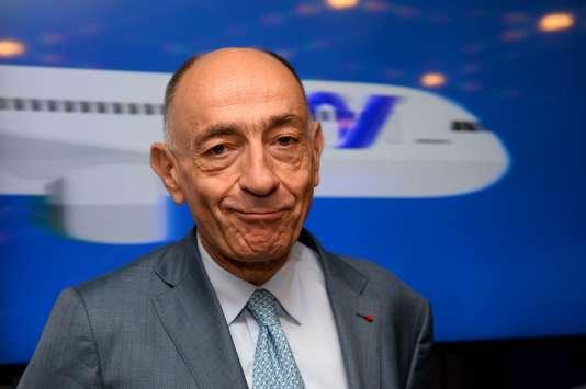 Le PDG d'Air-France KLM, Jean-Marc Janaillac, le 28 juillet, à Paris.