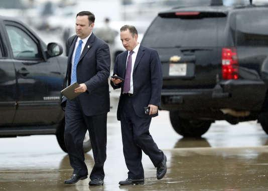 Reince Priebus (à droite) n'a pas été un soutien de la première heure de Donald Trump.